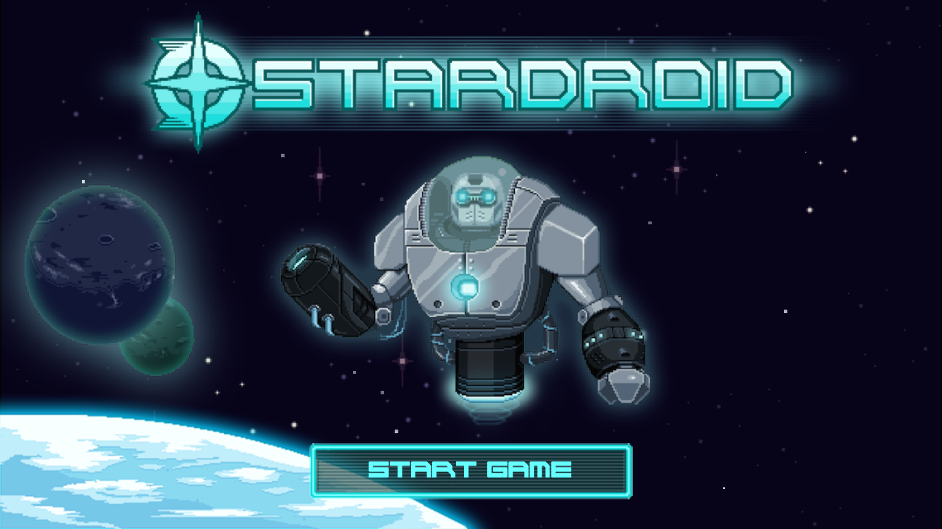 StarDroid - a 2D pixel art sci-fi action adventure for iOS Image